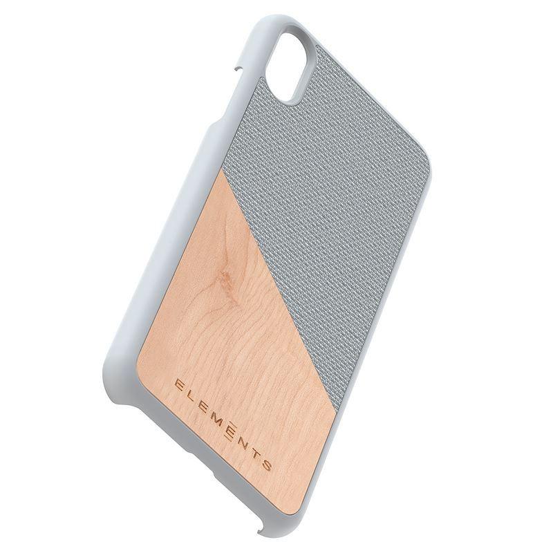 Nordic Elements Original Hel - Drewniane etui iPhone Xs Max (Light Grey)