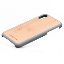 Nordic Elements Original Gefion - Drewnianie etui iPhone XR (Light Grey)