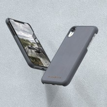 Nordic Elements Original Gefion - Drewniane etui iPhone XR (Mid Grey)