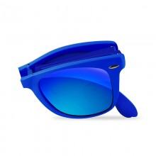 PURO Sunny Kit - Zestaw etui iPhone SE 2020 / 8 / 7 + składane okulary przeciwsłoneczne (niebieski)