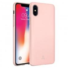 Crong Smooth Skin - Etui iPhone Xs / X (różowe złoto)