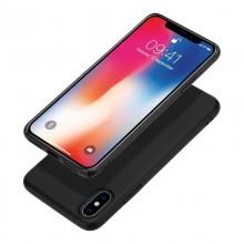 Crong Smooth Skin - Etui iPhone Xs / X (czarny)