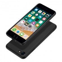 Crong Smooth Skin - Etui iPhone SE 2020 / 8 / 7 (czarny)