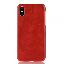 Crong Essential Cover - Etui iPhone Xs / X (czerwony)
