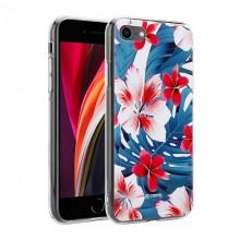 Crong Flower Case – Etui iPhone SE 2020 / 8 / 7 (wzór 03)