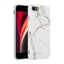Crong Marble Case – Etui iPhone SE 2020 / 8 / 7 (biały)