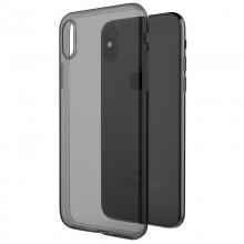 X-Doria Gel Jacket - Etui iPhone Xs / X (czarny przezroczysty)