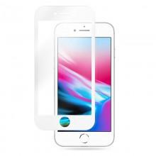 Crong 7D Nano Flexible Glass - Szkło hybrydowe 9H na cały ekran iPhone 8 Plus / 7 Plus (White)