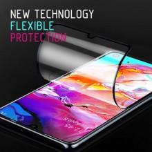Crong 7D Nano Flexible Glass - Szkło hybrydowe 9H na cały ekran iPhone 8 Plus / 7 Plus (Black)