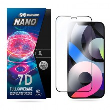 Crong 7D Nano Flexible Glass - Niepękające szkło hybrydowe 9H na cały ekran iPhone 12 / iPhone 12 Pro