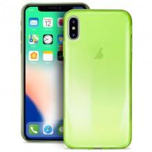 PURO 0.3 Nude - Etui iPhone Xs / X (Fluo Green)