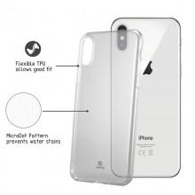 Crong Crystal Slim Cover - Etui iPhone Xs / X (przezroczysty)