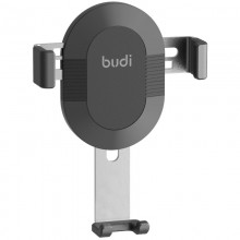 Budi - Uchwyt samochodowy grawitacyjny na kratkę, szerokość 57-83 mm (Czarny)