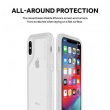 Griffin Survivor Endurance - Etui pancerne iPhone Xs / X (przezroczysty/szary)
