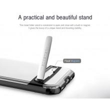 Mercury Dream Bumper - Etui iPhone X z metalową podstawką (czarny)