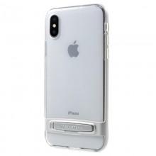 Mercury Dream Bumper - Etui iPhone X z metalową podstawką (srebrny)