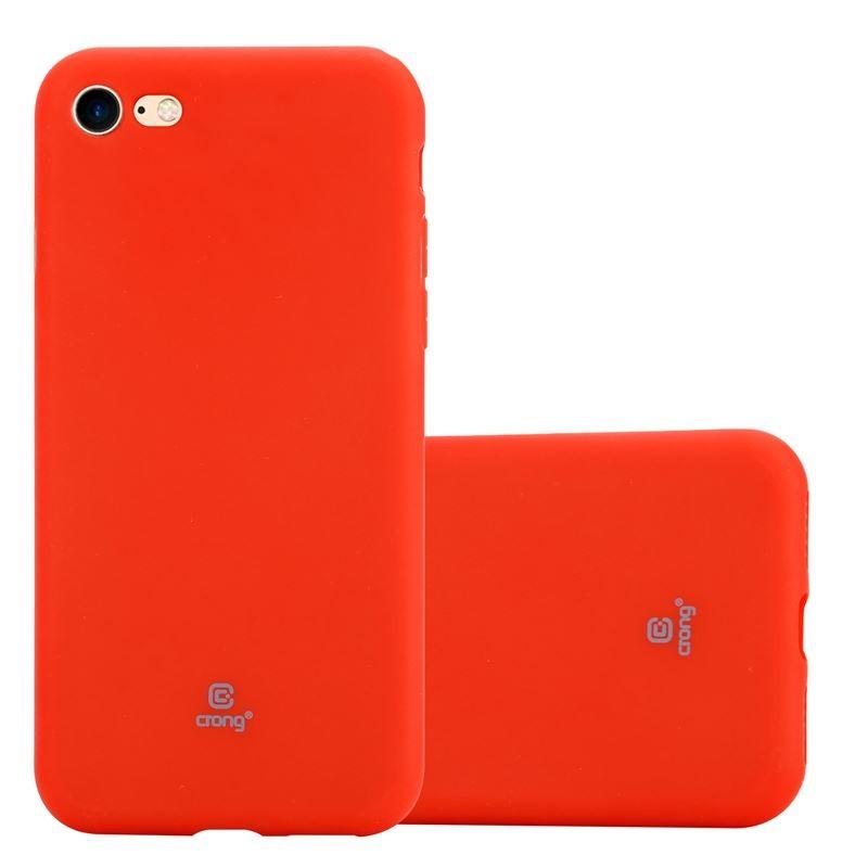 Crong Soft Skin Cover - Etui iPhone SE 2020 / 8 / 7 (czerwony)