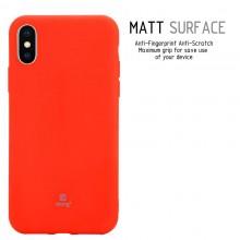Crong Soft Skin Cover - Etui iPhone Xs / X (czerwony)