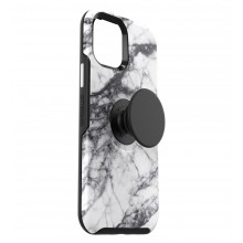 OtterBox Symmetry POP - obudowa ochronna z PopSockets do iPhone 12 mini (white marble)