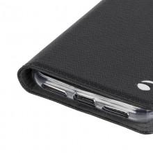 Krusell Malmo 4 Card Foliocase - Etui iPhone X z kieszeniami na karty + stand up (czarny)