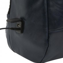 """PURO Byday Classic - Plecak ze skóry ekologicznej z zewnętrzym portem USB Notebook 15.6"""" / tablet (czarny)"""