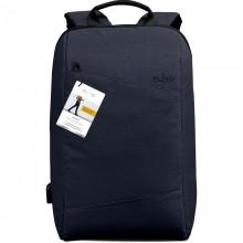 """PURO Byday - Plecak z zewnętrzym portem USB MacBook Pro 15"""" / Notebook 15.6"""" (granatowy)"""