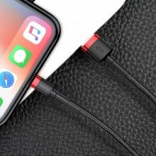 Baseus Cafule Cable - Kabel połączeniowy USB do Lightning, 2.4 A, 0.5 m (czerwony/czarny)