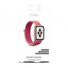 PURO Nylon - Pasek do Apple Watch 42 / 44 mm (Karalowy/Różowy)