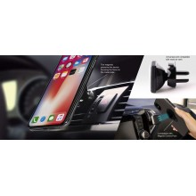 PURO Rotate Magnet Holder - Obrotowy magnetyczny uchwyt samochodowy na kratkę wentylacyjną do smartfonów (czarny)
