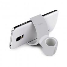 PURO White 360-degree Universal Holder - Uniwersalny uchwyt samochodowy / rowerowy (Biały)