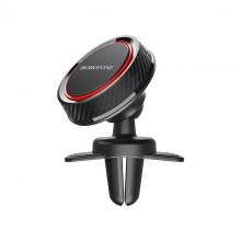 Borofone - Uchwyt samochodowy magnetyczny na kratkę nawiewu (Czarny/Czerwony)
