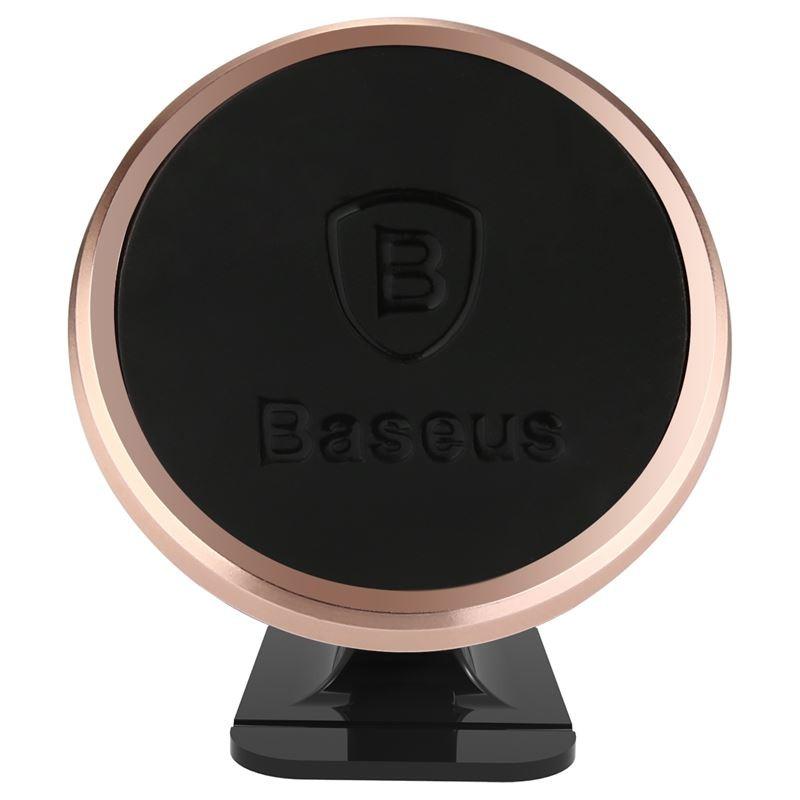 Baseus 360-degree Rotation Magnetic Mount Holder - Uchwyt magnetyczny na deskę rozdzielczą samochodu (różowe złoto/czarny)