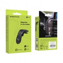 Borofone - Uchwyt samochodowy magnetyczny na kratkę nawiewu (Czarny)