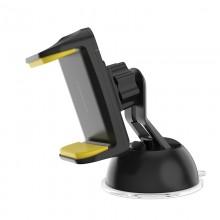 Borofone - uchwyt samochodowy na szybę i kokpit, czarno-żółty