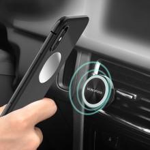 Borofone - uchwyt samochodowy magnetyczny na kratkę, aluminium, srebrny