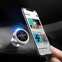 Borofone - uchwyt samochodowy magnetyczny na kokpit, aluminium, srebrny
