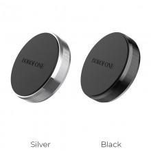 Borofone - uchwyt samochodowy magnetyczny na kokpit, aluminium, czarny