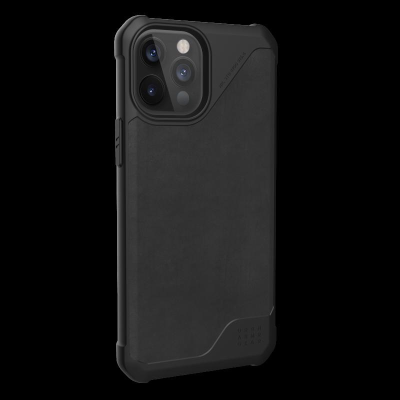 UAG Metropolis LT LTHR ARMR - skórzana obudowa ochronna do iPhone 12 Pro Max (czarna)