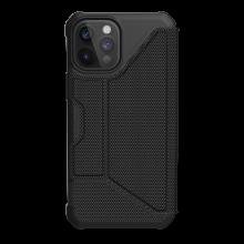 UAG Metropolis FIBRARMR - obudowa ochronna z klapką do iPhone 12 Pro Max (czarna)