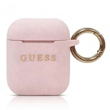 Guess Silicone Case - Etui AirPods (Pink)