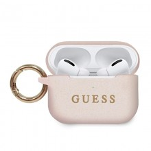 Guess Silicone Case - Etui AirPods Pro (Light Pink)