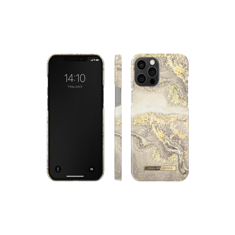iDeal of Sweden Fashion - etui ochronne do iPhone 12 Pro Max (Sparkle Greige Marble)