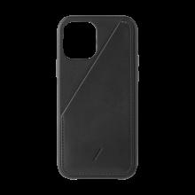 Native Union Card - skórzana obudowa ochronna do iPhone 12 mini z kieszenią na kartę (black)