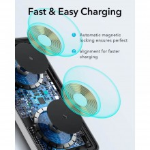 ESR HALOLOCK 2IN1 MAGNETIC MAGSAFE WIRELESS CHARGER BLACK