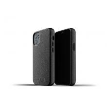 Mujjo Full Leather Case - etui skórzane do iPhone 12 mini (czarne)