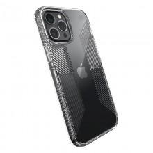 Speck Presidio Perfect-Clear with Grips - Etui iPhone 12 Pro Max z powłoką MICROBAN (Clear)