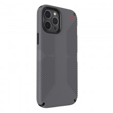 Speck Presidio2 Grip - Etui iPhone 12 Pro Max z powłoką MICROBAN (Graphite Grey/Bold Red)
