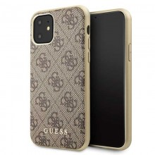 Guess 4G Charms Collection - Etui iPhone 11 (brązowy)