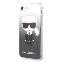 Karl Lagerfeld Iconic Karl Gradient - Etui iPhone SE 2020 / 8 / 7 (czarny)