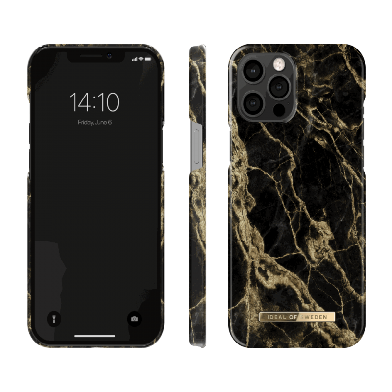 iDeal of Sweden Fashion - etui ochronne do iPhone 12 Pro Max (Golden Smoke Marble)